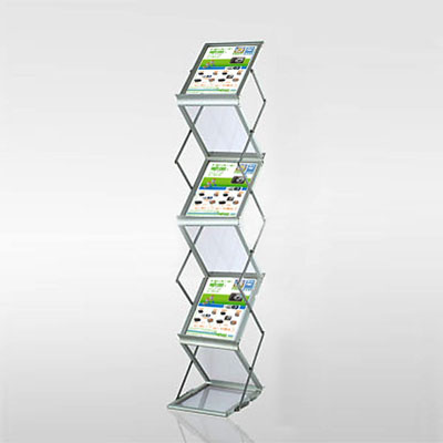poster stand Z-shape